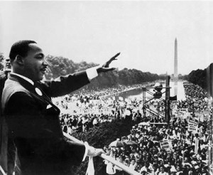 Martin Luther Jr. at the March on Washington