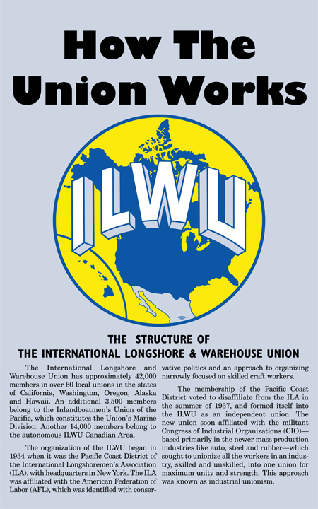 "Cover image of the ILWU ""How the Union Works"" pamphlet"