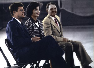 Henry Hansen, ILWU Local 12, with President John F. and Jackie Kennedy