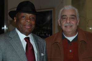 Supporting the Booker T. Washington Community Center: Coast Committeeman, Ray Ortiz, Jr., (right) stands with former SF Mayor Willie Brown Jr. at a fundraiser for the Center's new state of the art community center.