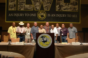 Panama power grows: Convention delegates welcomed the recent affiliation of 2,580 members from the SINTRAPORSPA Panamanian dockworkers union into the ILWU's Panama Canal Division, where they joined members from the Panama Canal Pilots Union.