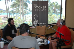 Docker podcast: Members of ILWU Canada who run the Dockers Podcast interviewed ITF President Paddy Crumlin (right).